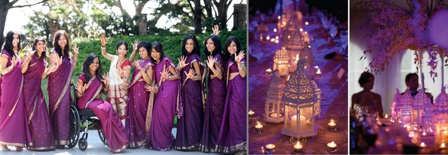 purple wedding sunglasses saris